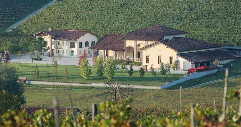 La Spinetta Camp winery from above Aging Barbera wines from Piemonte